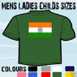 INDIAN FLAG EMBLEM T-SHIRT ALL SIZES & COLOURS CHARITY